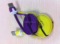 Made in Shenzhen largest cable manufacturer/ noodle usb cable/cheap usb cable With Colourful