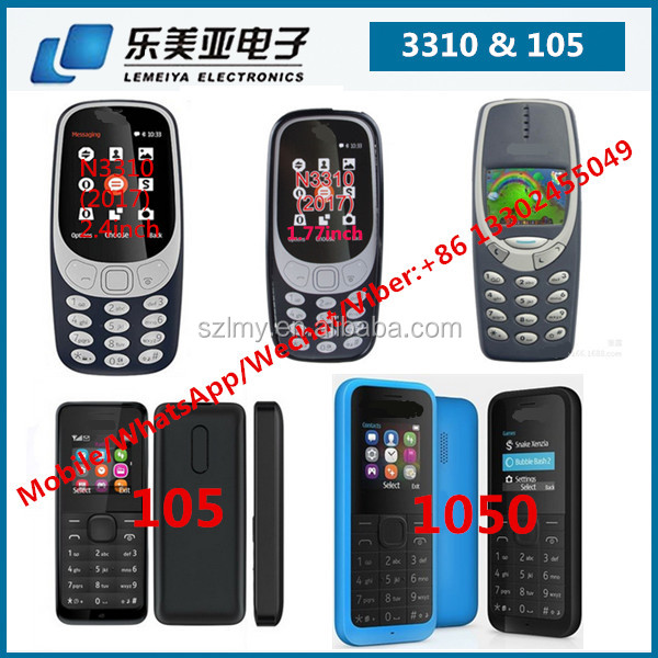 original phone hotsale TFT screen one sim and dual sim dual active 2G mobile phone for Nokia 105 1050 107 108 3310 1280 1650