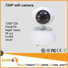 H.264 Network P2P 720P Megapixel CCTV IP Wifi Camera