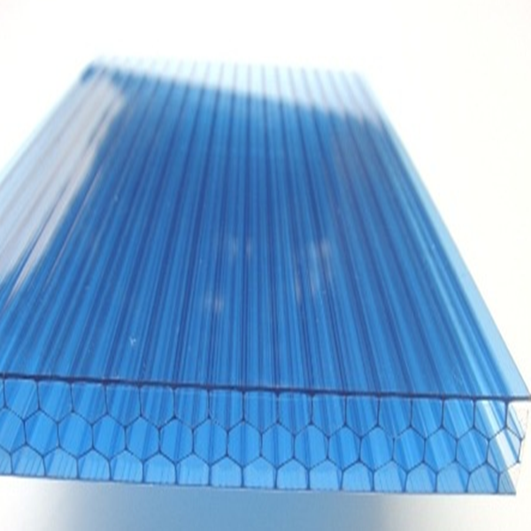 lowes honeycomb polycarbonate panel plastic clear roofing sheets with 6mm thickness