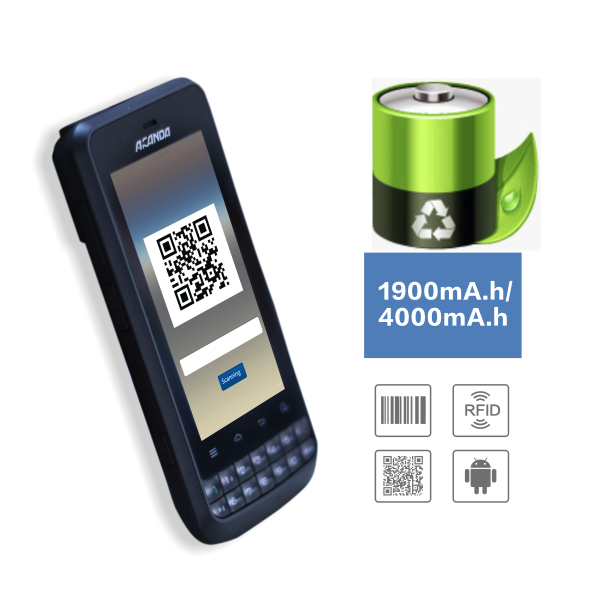 CE and IP65 Android 4.1.2 handheld UHF rfid PDA