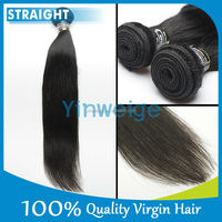 "20""Wholesale Straight Human Remy Unprocessed Vrigin Brazilian Hair Weft/20inch Natural Color Raw Hair Bulk/vrigin Indain Hair"