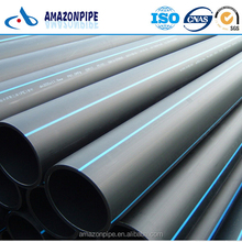 Non-toxic plastic HDPE pipe DN125 DN140 PE pipe for water supply