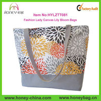 Hot Sale Tote Bag Wholesale For Lady Canvas Lily Bloom Bags