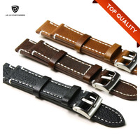Top Quality Fashion Men Stitched Watch Band Leather/Watchband Watch
