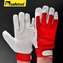 White leather glove for driving drivers FL-1009