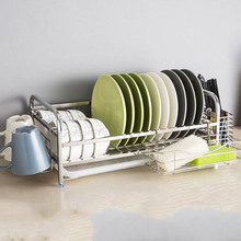 Over Sink Dish Drying Rack Stainless Steel Dish Drainer, On Counter or In Sink Dish Rack, Deep and Large