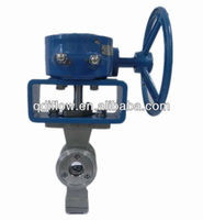 V segment ball valve suitable for mud and fibre medium