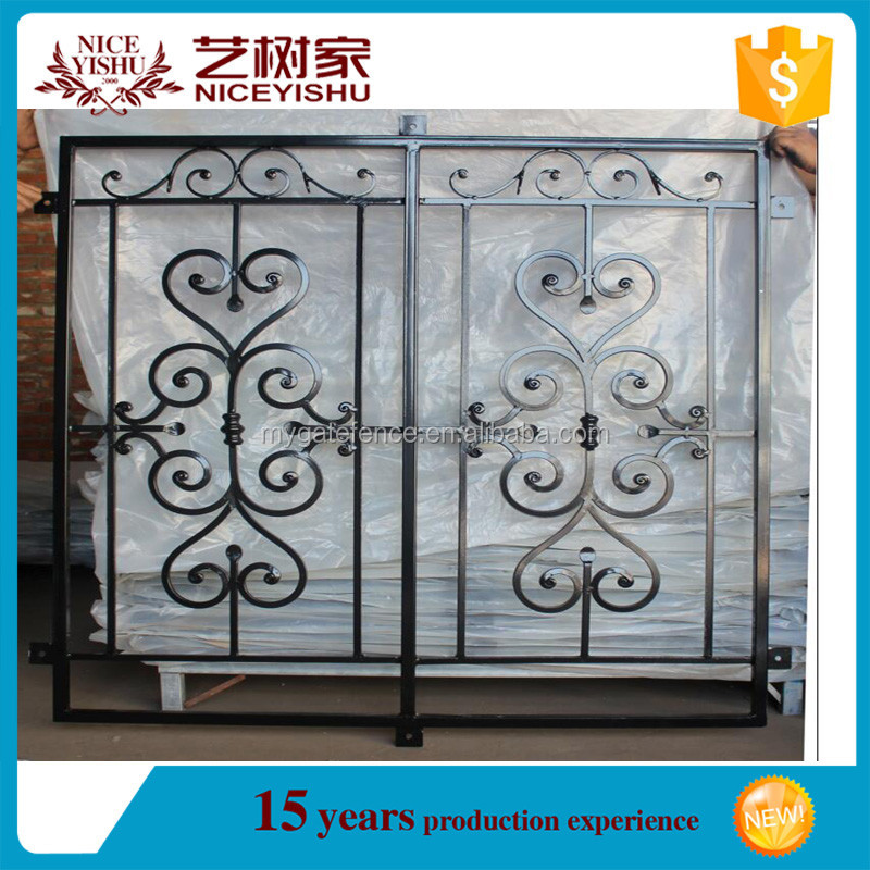 American simple ornamental used security antique welded for Window design metal