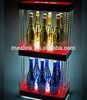 Countertop 2-tier wine display LED Light Liquor display stand with simple fashion design and cheap price