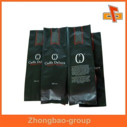 Heat sealed plastic MATT OPP coffee vacuum bag for powder packaging with foil inside