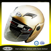 Gold Open face helmet used motorcycles for sale