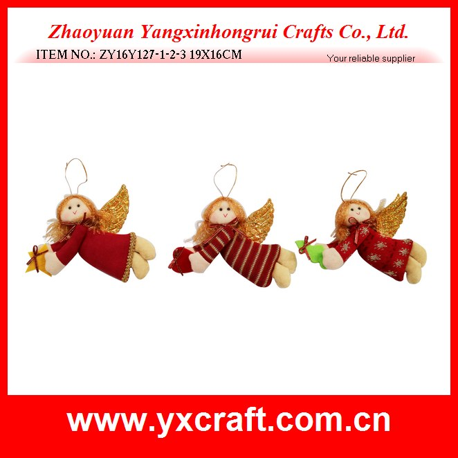 Christmas decoration (ZY16Y127-1-2-3 19X16CM) christmas angel, christmas flying angel, christmas girl gift decoration