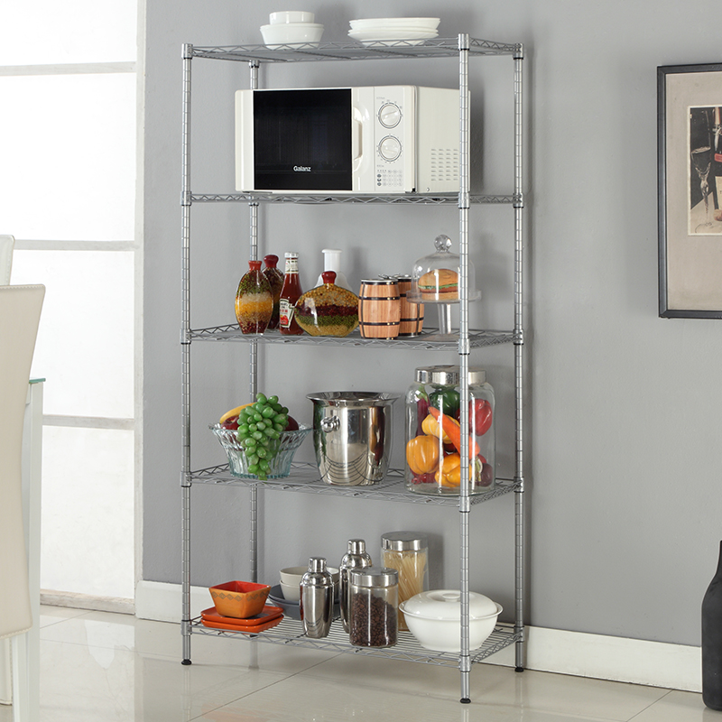 XM_203A carbon steel adjustable closet wire shelving