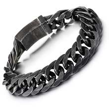 Fashion Rhombic Men's Titanium Steel jewelry Chain Bracelet