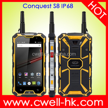 Waterproof Shockproof Smartphone 4G LTE Android 5.1 Lollipop Original CONQUEST S8 NFC PTT POC Rugged Phone