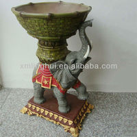 Cute Indian Style Polyresin Garden Elephant Planter For Sale