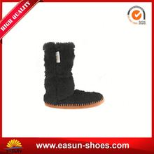 Low prices suede short boots super warm safety boots synthetic fox fur boots