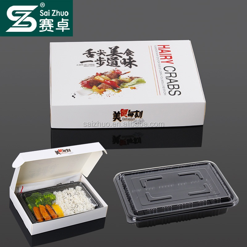 factory direct sell rectangular disposable lunch box with ops lid and PP base BPA free SZ-112(750ml)