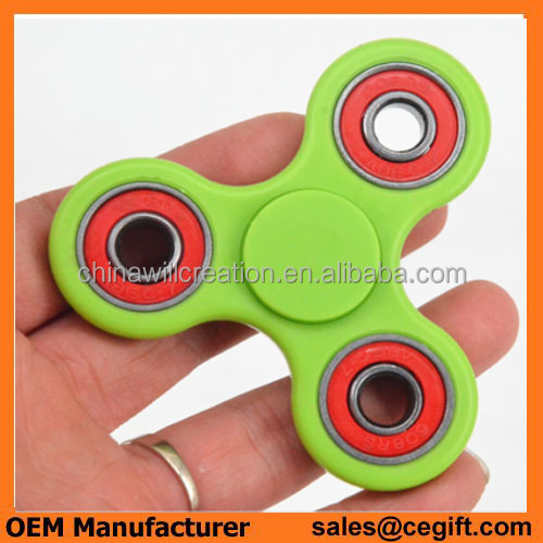 2017 New Finger Toy luminous Bearings Fidget Spinner hand spinner glow in the dark