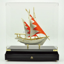 Crystal Arab Diamond Bahrain Dhow metal ship model For Decration gift And Islamic Souvenirs Gifts