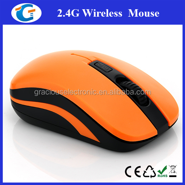 2.4GHz quality optical cordless mouse with comfort grip