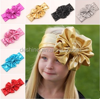 2015 new children's wash gold bow hair band, Baby Hair Accessories