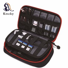 Electronic Accessories Thicken Cable Organizer Bag Portable Travel Storage Bag