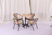 mebel furniture table and chair for cafe used
