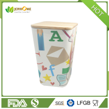 Food storage container made by bamboo fiber eco -friendly canister