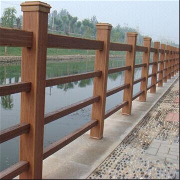 2015 hot sale wood plastic vinyl porch railings for outdoor