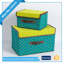 Foldable Non Woven Fabric Waterproof Multipurpose Polyester Storage Boxes With Lid