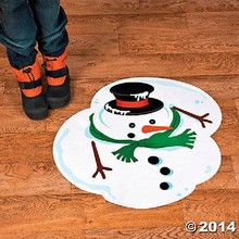 Cheap christmas decorative removable 3D floor sticker with digital sticker printing