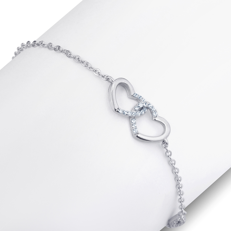 Wholesale Modern Blessed Silver Chain Charm Bracelet For Women
