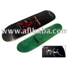 Tony Hawk Autographed / Hand Signed Red Dragon Skate board Deck