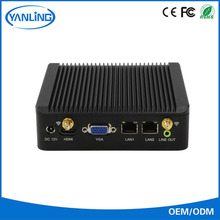 Fanless pc barebones dual lan computer chassis IBOX-501 N6 support 3G SIM card