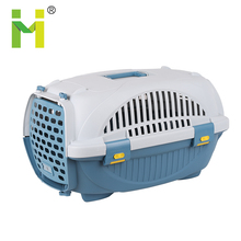 Colorful pet transport box convenient plastic dog cage dog kennel removable
