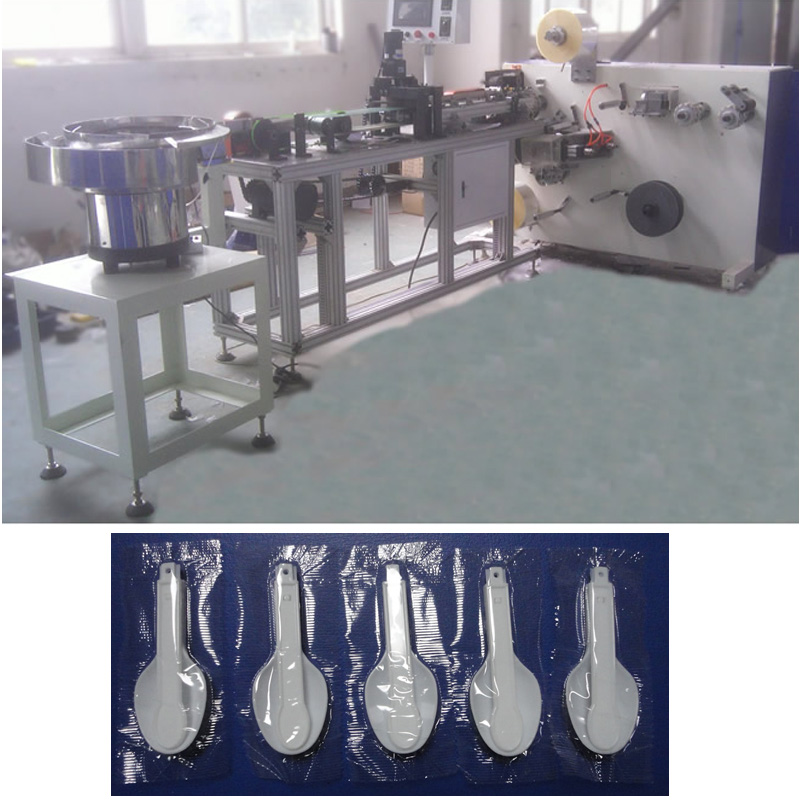 Automastic Plastic Folding Spoon Wrapping Machine