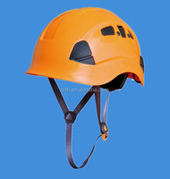 Vented Working aloft safety helmet