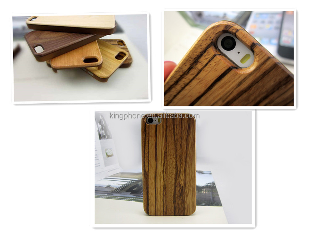 pc wood phone case for iphone 5s, high quality zebra wooden case for iphone 5s