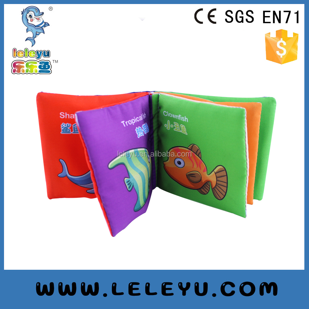 Top Quality Cute Baby toy Handmade Fabric Book for Children