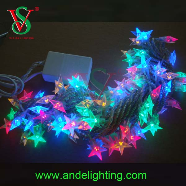 2016 best sale holiday lighting fair star led string lights