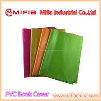 custom school plastic a4/a5/a6 size soft pvc book cover with embossed logo