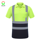 Men's work wear plus size hi vis polo reflective t shirt