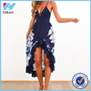 Yihao Ladies Summer 2015 New Fashion Sexy Women Boho Maxi Party Dress Beach Sundress Sleeveless Design Floral Long Women Dresses