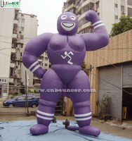Outdoor advertising giant muscle man custom inflatable made of 1st pvc coated nylon for promotion