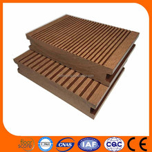 Outdoor patio decking flooring covering plastic wood WPC deck flooring black wpc decking