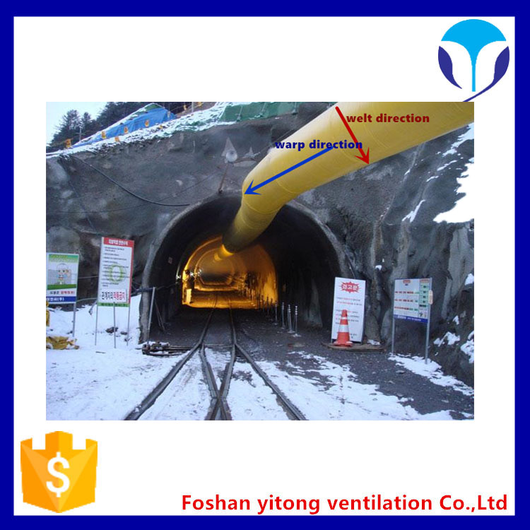 High strength and good toughness tunnel ventilation ducting