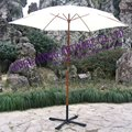180cm wood garden promotion parasol for coffe shop