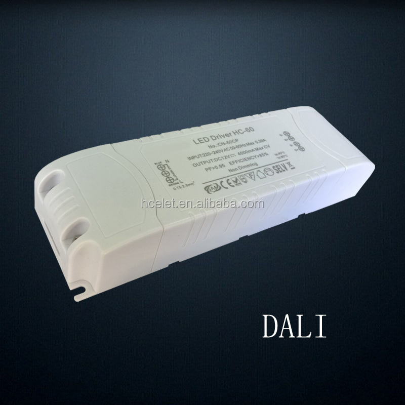 SAA C-tick listed constant current 1500ma led panel light 60w driver DALI dimming